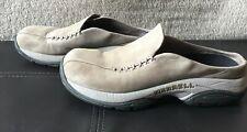 Merrell Primo Seam Sand Nubuck Leather Slip On Mule Womens Size 8 Air Cushion