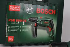 Bosch Bohrmaschine PSB500RE Schlagbohrmaschine Bohrmaschine inkl. Zubehör + Info