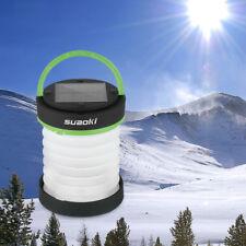 Suaoki Solar Panel Camping Lantern LED USB Hiking Night Light Collapsable Lamp
