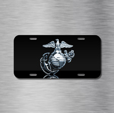 USMC Vehicle Front License Plate Auto Car United States Marine Corps New USA