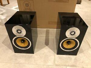 B&W CM5 bookshelf/stand speakers. Gloss black