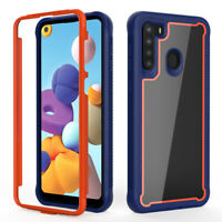 For Samsung Galaxy A21 /A11 Phone Case Hybrid Shockproof TPU Armor Rugged Cover