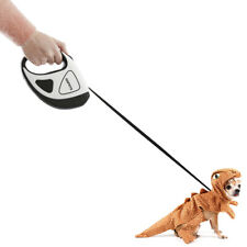 5M Dog Leash Retractable W/LED Light Walking Collar Automatic Traction Rope Pet