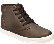 size 9 Nautica Breakwater Lace-up Brown Hi Top Sneakers Mens Shoes NEW