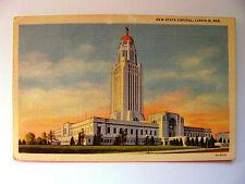 Linen Postcard Lincoln Nebraska New State Capitol Curt Teich New c.1935