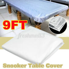 9ft Waterproof White Pool Snooker Table Cover Oxford Cloth Durable Dustproof AU