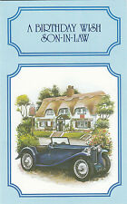 Happy Birthday Son In Law Vintage Classic Car MG Roadster Greeting Card