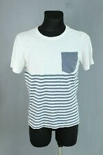 MUSTANG NEW white cotton casual men top t-shirt size S