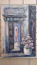 """Airynaa Tannberg, """"In the Village"""" Mixed Media on Canvas, Signed LLHS """"Airynaa"""""""