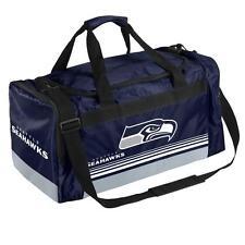 NFL Seattle Seahawks Gym Travel Luggage Striped Core Duffle Bag