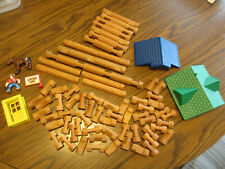 Lincoln logs Hasbro Set of 70 Pieces Buildings Figures