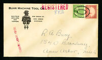 US Buhr Machine Tool Co. Advertising Registered Stamp Cover