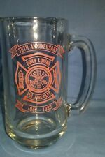 DUNN-LORING VOLUNTEER FIRE DEPARTMENT 38TH ANNIVERSARY GLASS BEER TANKARD