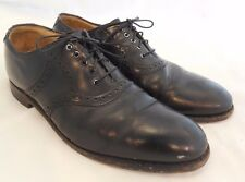 Johnston & Murphy Black Leather Lace-Up Oxford Dress Shoe Cap Toe Sz 10.5