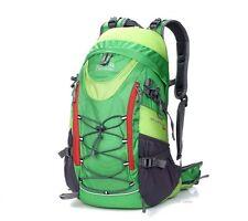 Green Rucksack Green Backpack New Outlander 35L Internal Frame Walk Run Cycle