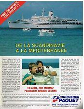 Publicité Advertising 1988 Les Croisières Paquet