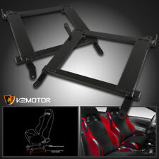 08-17 Mitsubishi Lancer EVO Racing Seat Steel Mounting Brackets Rail Track Pair