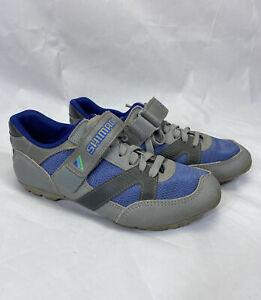 Shimano SPD SH-A051 Womens Cycling Shoes 36 EU Size 6 Blue Grey