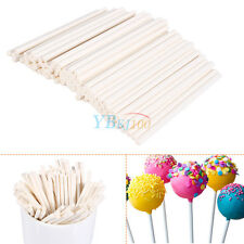 100pcs White Sucker Lollipop Sticks Candy Chocolate Baking Cake Pop Making 7cm