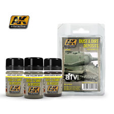 AK Interactive WEATHERING DUST AND DIRT DEPOSITS WEATHERING SET