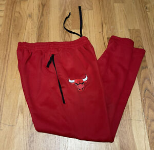 Nike NBA Chicago Bulls Player Issue Authentic Training Pants Red AT9204-657 SM