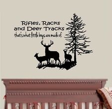 Rifles Racks and Deer Tracks, with Deer and Tree #4 ~ Wall or Window Decal