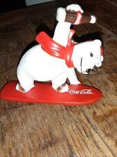 Coca-Cola Snowboarding Polar Bear Ornament 1995