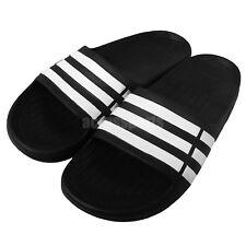 adidas Duramo Slide K Black White Youth Girls Womens Slippers Sandals G06799