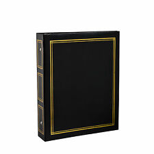 Deluxe Large Self Adhesive Ring Binder Photo Album 40 Sheets/80 Side -Black CL12