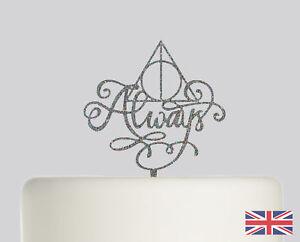 Always Harry Potter Wedding Cake topper Acrylic Glitter cake Decoration.756