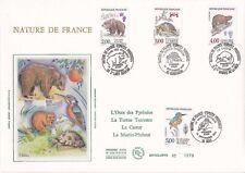 Enveloppe grand format 1er jour 1991 GF Soie Nature de France Série Animaux