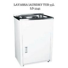 Laundry Cabinet Unit With Plenty of Storage Single Bowl Sinks 555 mm 45L