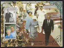 Nauru 1997 HM Queen Golden Wedding Anniversary miniature sheet SG MS471
