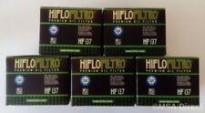 SUZUKI LS650 Savage/S40 Boulevard HIFLOFILTRO OLIO FILTRI (HF137) (5 pezzi)