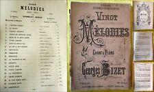 VINGT Mélodies Chant et Piano - Georges BIZET. Choudens. Mezzo-Soprano Baryton
