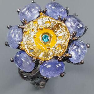 Jewelry Fine Art Tanzanite Ring Silver 925 Sterling  Size 6 /R162676