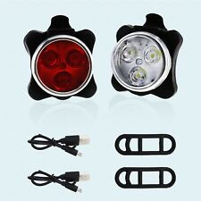 New listing LED Head Front Rear Wheel Bike Light Cycling USB Red and White Hiking Camping