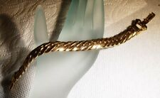 Vintage CORO PEGASUS Heavy Gold Tone Curb Link Bracelet