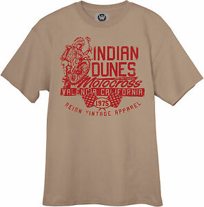New Vintage Style Indian Dunes Motocross T-Shirt Shirt MX Motorcycle Maico CZ
