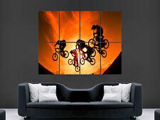 bmx sunset tricks sprünge art wall large image giant poster