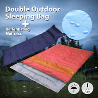 Self-Inflating Mattress Airbed & -10°C Double Outdoor Camping Sleeping Bag