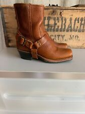 FRYE Harness Ankle BOOTS Motorcycle VINTAGE Leather Square Toe USA Womens 6