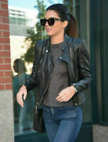 ZARA RARE AND SOLD OUT BLACK LEATHER BIKER JACKET SIZE XS KARDASHIANS 3461/201