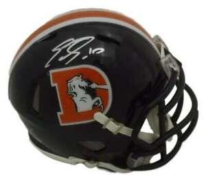 Emmanuel Sanders Autographed Denver Broncos Color rush Mini Helmet JSA 14527