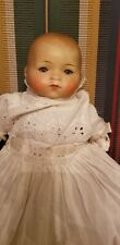 "ANTIQUE ARMAND MARSEILLE 341 BISQUE SOLID DOME DREAM BABY DOLL 11"" COMPOSITION &"