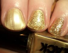 THE NEW BLACK GLIMMER TWINS GOLDEN TICKET  2 PIECE SET BEAUTIFUL NAIL POLISH