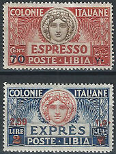 1926 Libia Espressi Italia Turrita dent. 13-1/2-14 sopr. nuovo valore SL (MNH...