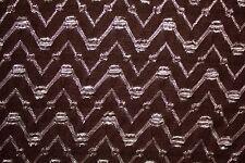 Brown Silver Chevron Stretch Lace #27 Nylon Lycra Spandex Apparel Fabric BTY