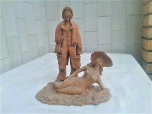 Statue in ceramica (2) - Terracotta Italia - 1950-1974