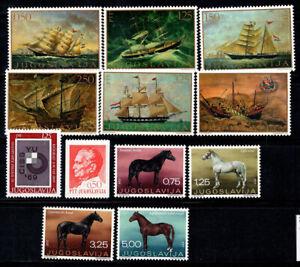 Yougoslavie 1969 Mi. 1336-1347 Neuf ** 100% navires, chevaux